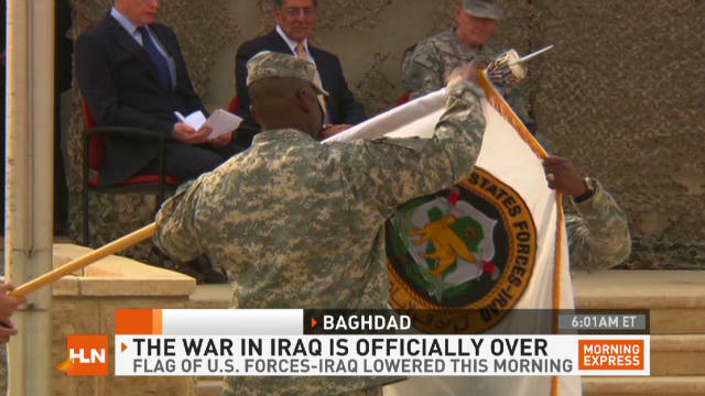 War in Iraq is officially over