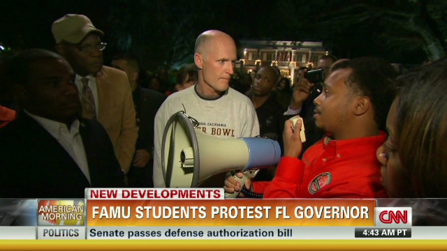 FAMU students protest on governor's lawn