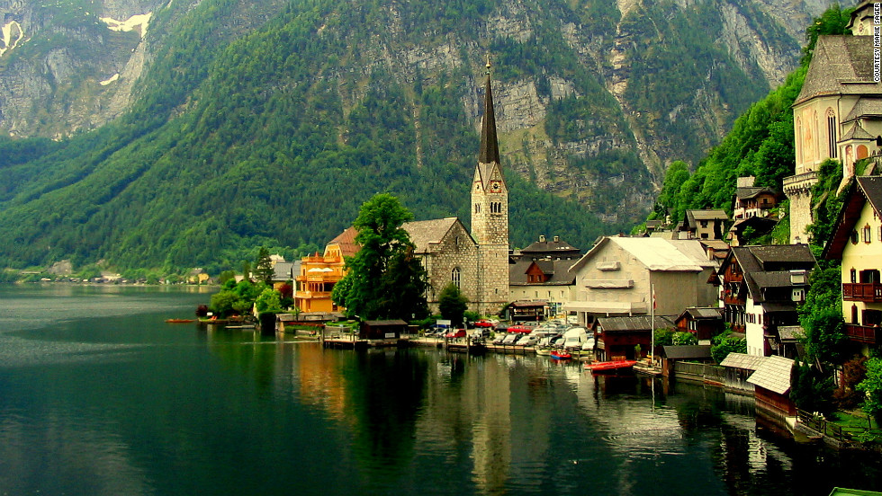 "From the rugged, sculpted wilderness of Austria's mountains to its richly historic cities like Vienna, iReporters take us on a journey across this majestic country with their photos. Marie Sager took this photo while living in Austria. ""Hallstatt is a hidden gem -- so much to see and do, you won't be disappointed."""