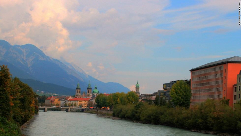 "Ryan Duckwitz took this photo while studying abroad in Innsbruck. ""Austria as a whole is an extremely impressive country and it is definitely worth visiting.  It has some of the most beautiful mountain ranges in the Alps"""