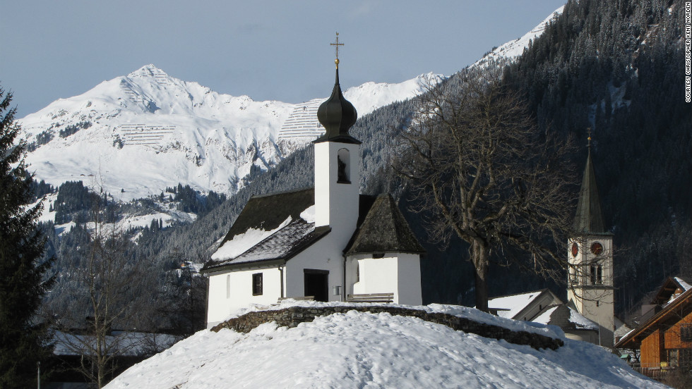 Christopher Kent Norden snapped this shot of two churches in Gaschurn from the base of the Montafon Valley town's ski resort, Gaschurn-Partenen.