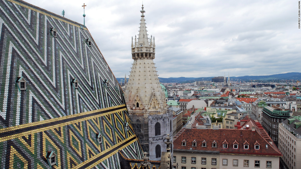 Kevin Kasmai captured this unique perspective from the top of the St. Stephen's Cathedral.