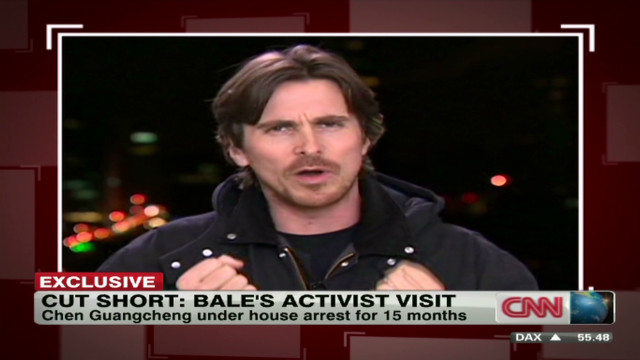 Christian Bale visits China as activist
