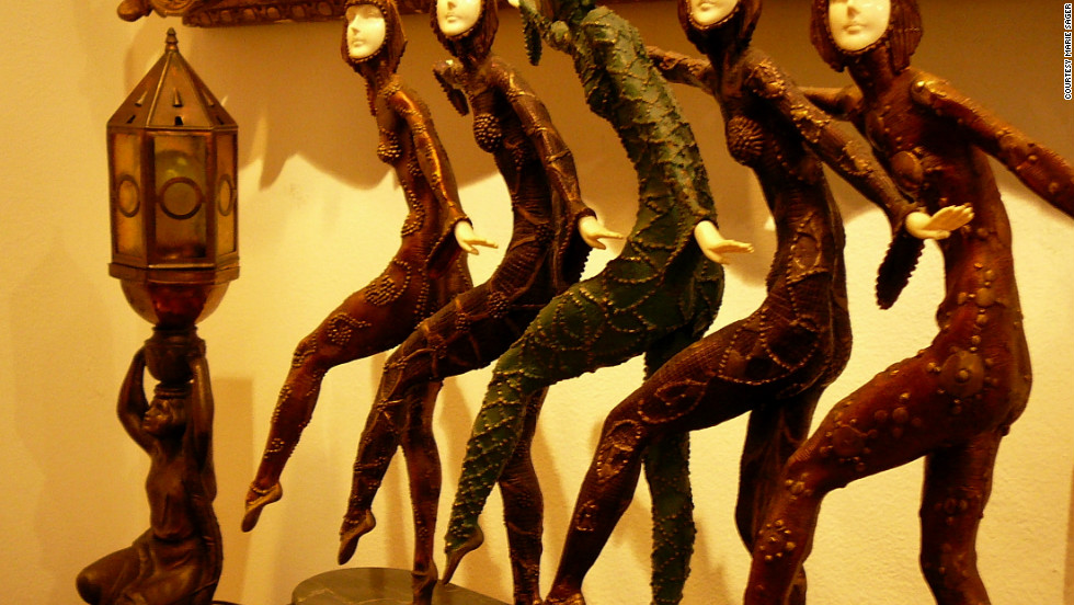 "This figurine by Dimitri Chiparus entitled ""Five Dancers"" was expected to fetch between $1,500 - $2,500."