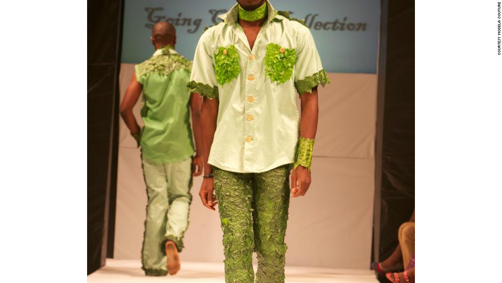 Menswear was also on show, including this design by Modela Couture.