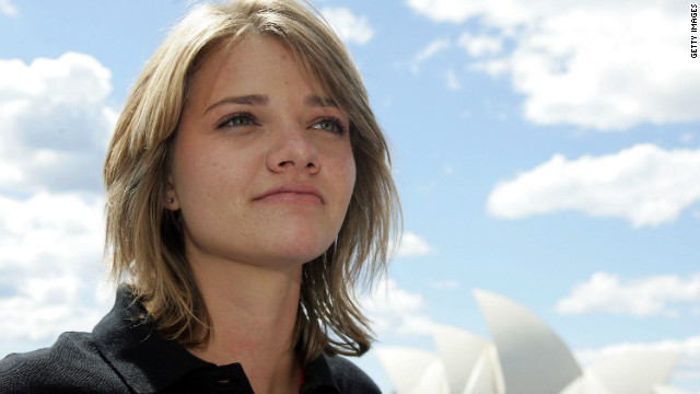 Jessica Watson, pictured here before her round-the-world voyage, will skipper in the 2011 Rolex Sydney to Hobart.