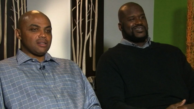 CNN's Mark McKay interviews Charles Barkley and Shaquille O'Neal