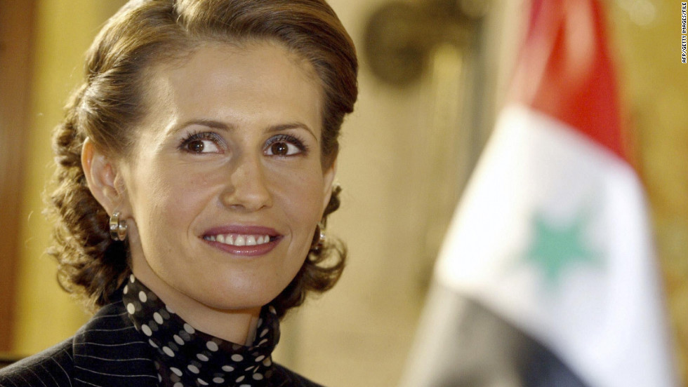 The first lady attends an Arab women and war conference on March 8, 2004, in Beirut, Lebanon.