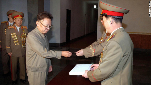 Kim Jong Il votes in North Korea's 2009 parliamentary elections at a polling station in Pyongyang.
