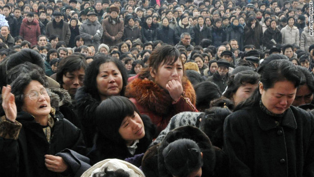 North Koreans mourn the death of their leader Kim Jong Il in Pyongyang last month.