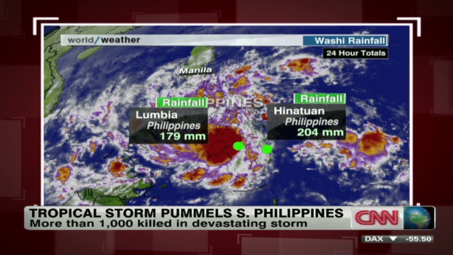 Tropical Storm Sendong's power