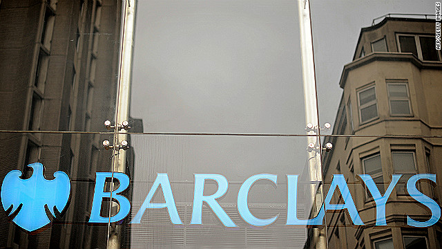The Barclays bank logo is pictured in central London, on January 26, 2011. British bank Barclays announced Wednesday that it plans to axe around 1,000 jobs with the closure of its financial planning division, sparking anger from trade union Unite.