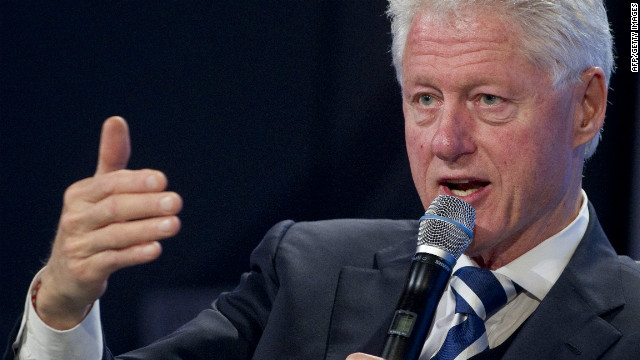 Former US President Bill Clinton speaks during the 2011 Fiscal Summit in Washington, DC, May 25, 2011.