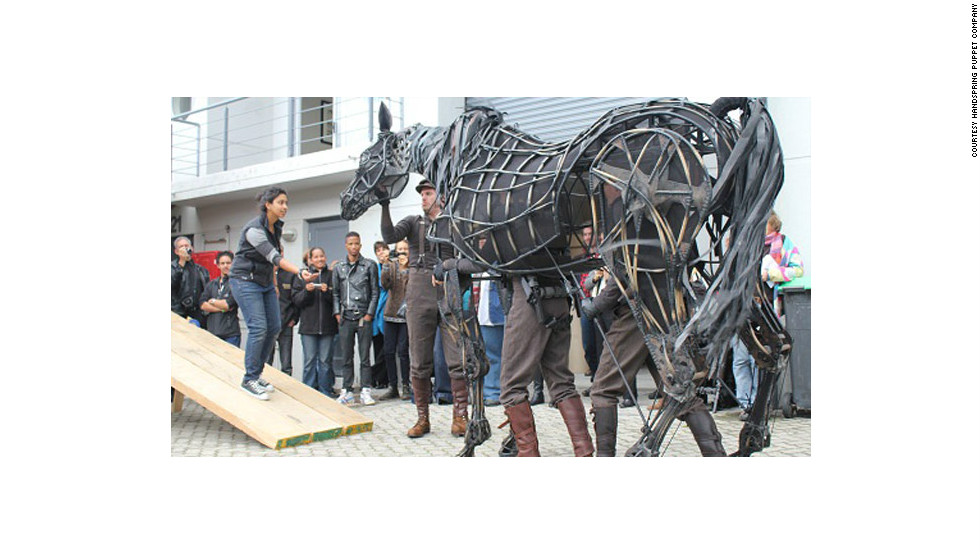 """Jones and Kohler are the creators of the astounding life-sized horse puppets that grace the stage in the award-winning play """"War Horse."""""""