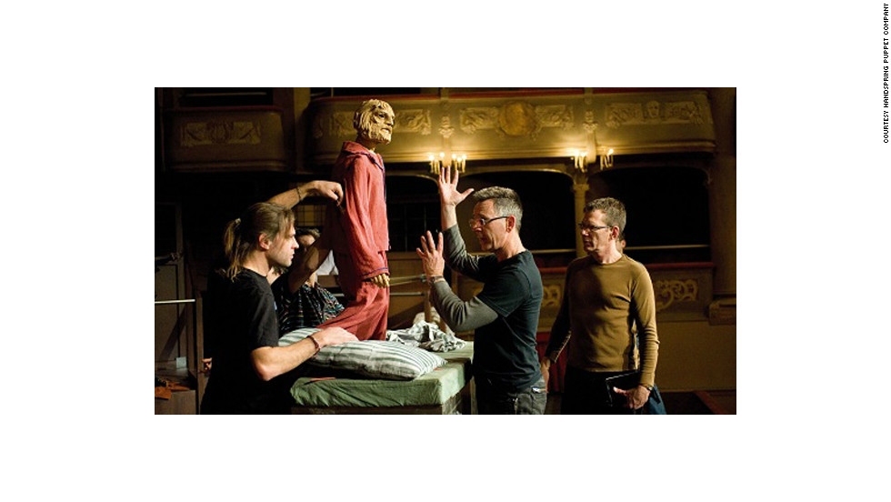 """A rehearsal for Handspring's production of """"Il Ritorno D'Ulisse,"""" in 2009."""