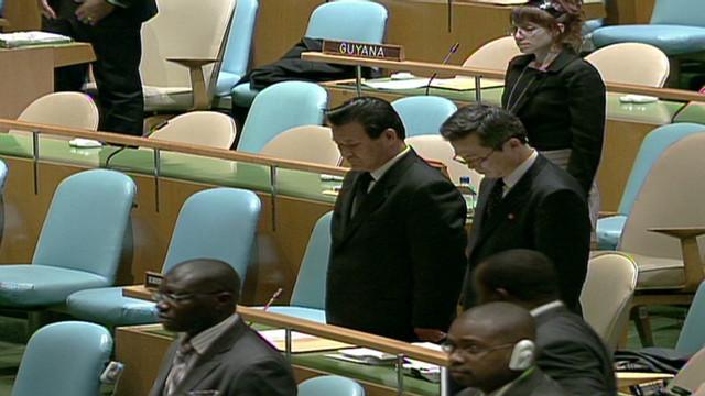 U.N. moment of silence for Kim Jong Il