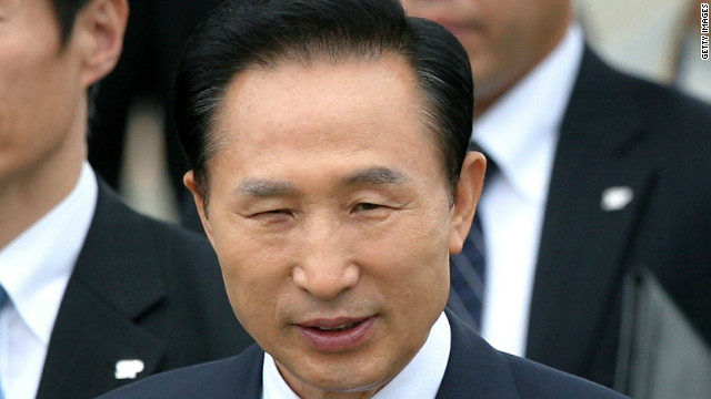 President Lee Myung-bak has previously taken a hard line against his North Korea since coming into office in 2008.