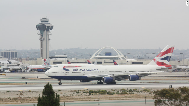 A file picture from 2010 of a British Airways Boeing 747 taxiing on the runway at Los Angeles International Airport.
