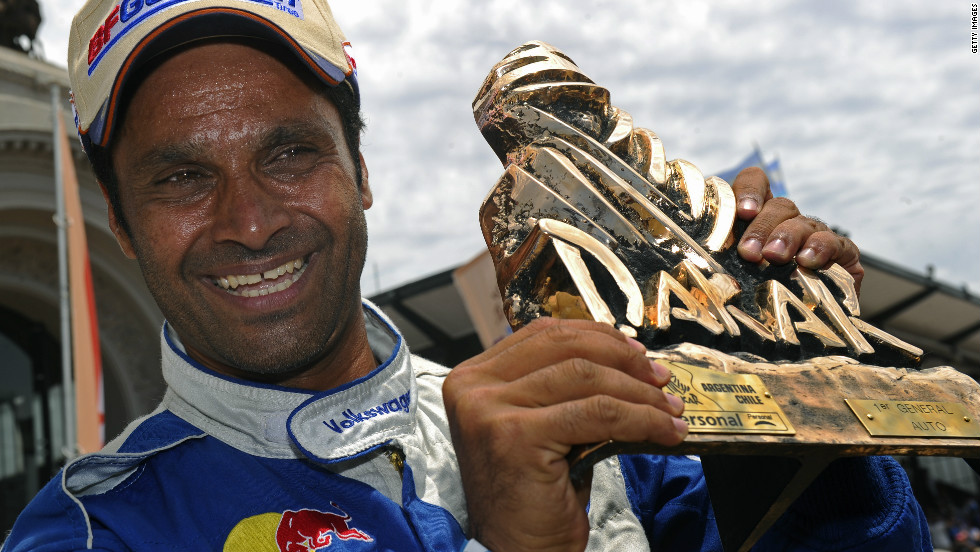 Qatar's Nasser Al-Attiyah guided his Volkswagen over the line first to claim victory in the cars division in the 2011 race. The versatile 41-year-old has also claimed gold medals in shooting disciplines at the 2002 and 2010 Asian Games. Mechanical problems forced Al-Attiyah to retire his Hummer from this year's race during the ninth stage.
