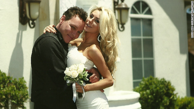 Wedding photo of Doug Hutchison and Courtney Stodden.