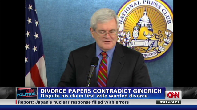 Gingrich first wife didn't want divorce