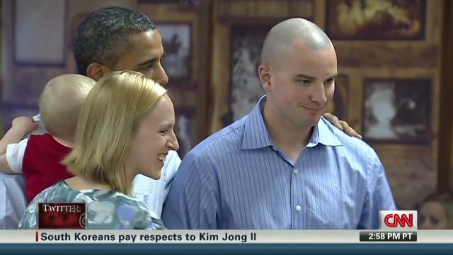 Obama kissing babies