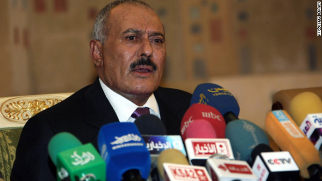 Yemeni President Ali Abdullah Saleh, seen here on December 24, 2011, has been granted complete immunity from prosecution.