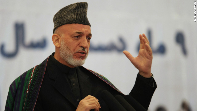 Karzai endorses U.S.-Taliban talks