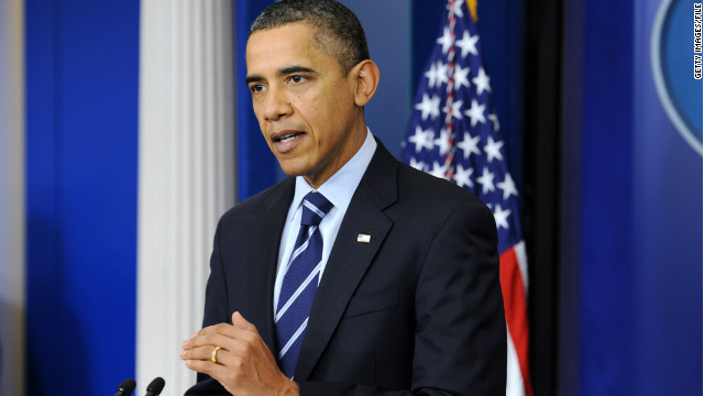 President Obama delivered a statement in the White House briefing room on December 17, 2001.