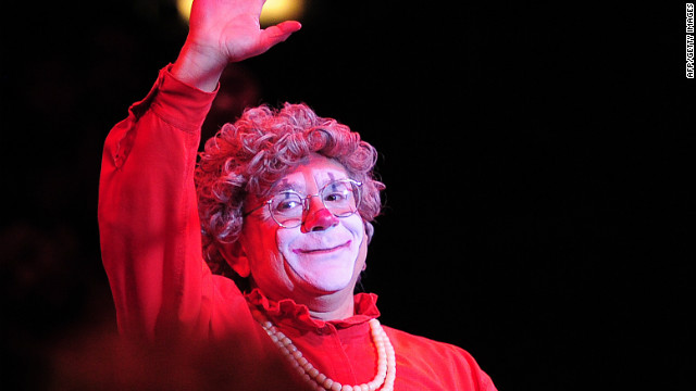 Grandma, impersonated by Barry Lubin performs, during a Big Apple Circus show in New York, October 30, 2011.