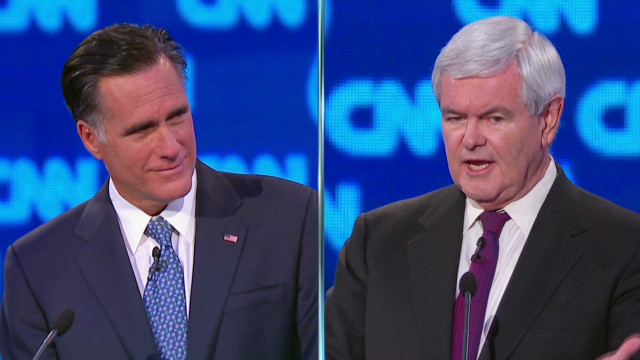 Gingrich & Romney health care volleying