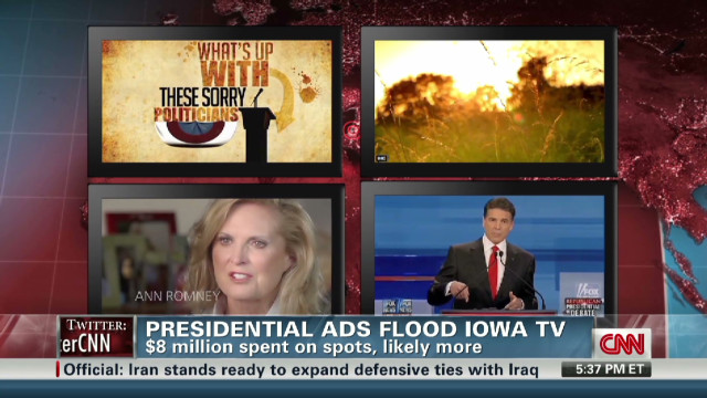 Iowa caucuses ad wars heat up