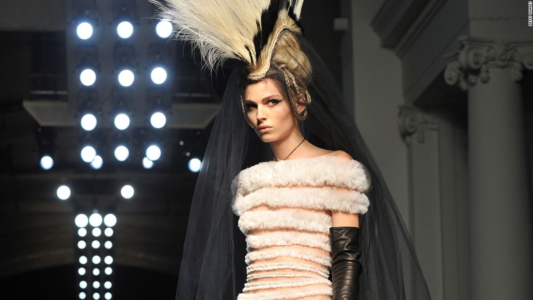 Gaultier's approach to casting and production was equally progressive. He's one of few designers to consistently feature models of color on the catwalk and, in 2011, he was one of the first designers to work with trans model Andreja Pejic (who then went by Andrej).
