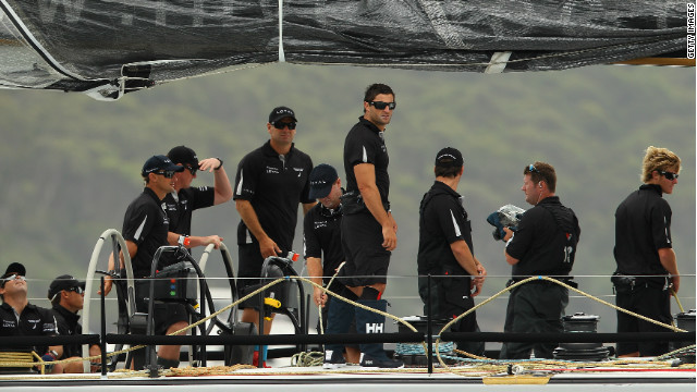 The crew of Investec Loyal faced an anxious wait before their line honors victory was confirmed