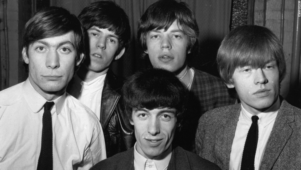 The debut of the British rhythm and blues band The Rolling Stones was at the Marquee Club in London. They are seen here in 1963, from left, Charlie Watts, Keith Richards, Mick Jagger, Brian Jones and Bill Wyman.