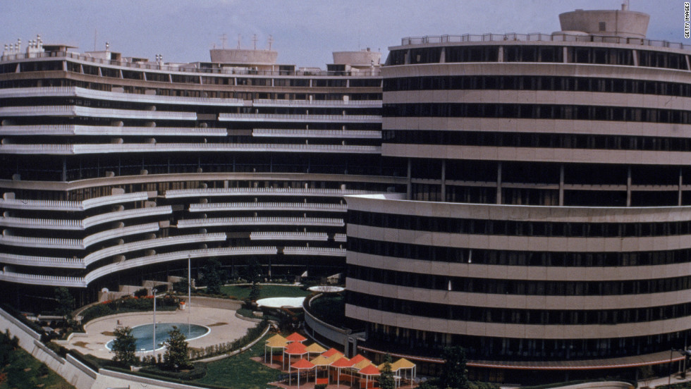 The Watergate Hotel in Washington, headquarters of of the Democratic National Party, was burglarized on June 17, 1972. After the truth began unfolding, then-President Nixon resigned in 1974.