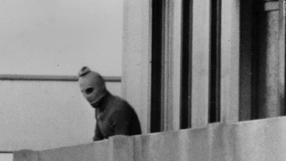 On September 5, 1972, eight members of Black September, a Palestinian group, took the 11 Israeli Olympic athletes hostage, killing two immediately. The next day, during an unsuccessful rescue, the other nine were killed at Munich Airport.