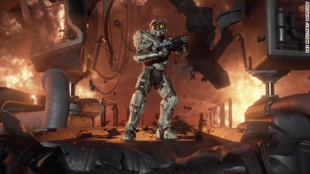 "A screenshot from the upcoming ""Halo 4."""