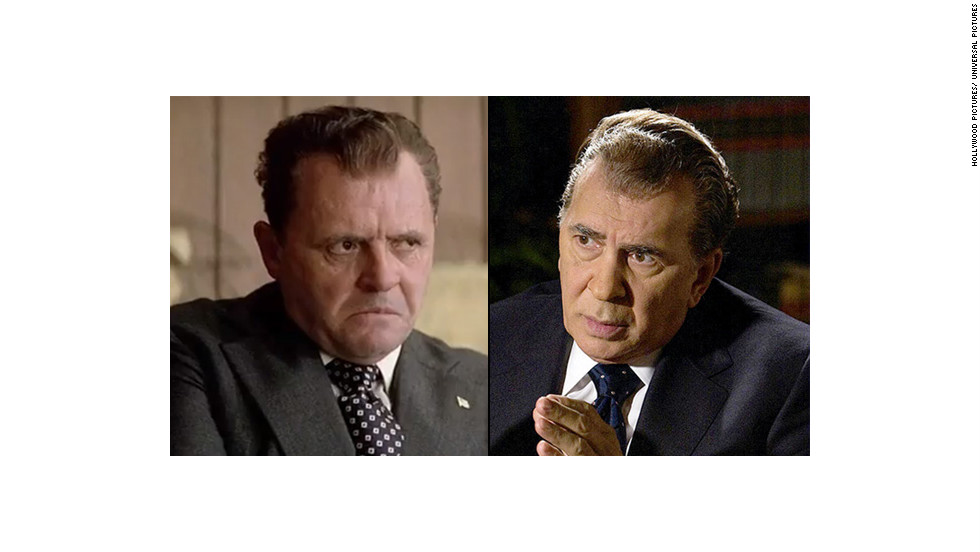 "Anthony Hopkins portrayed President Richard M. Nixon in Oliver Stone's biopic, ""Nixon."" Frank Langella played Nixon post-Watergate in the stage and the 2008 film version of ""Frost/Nixon."""