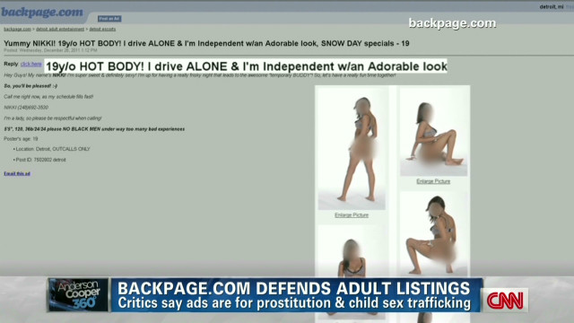Backpage defends sexy ads