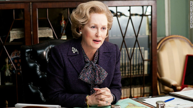 "Meryl Streep portrays Margaret Thatcher in ""The Iron Lady."""