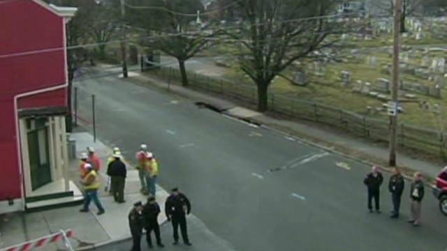 Sinkhole threatens Pennsylvania cemetery