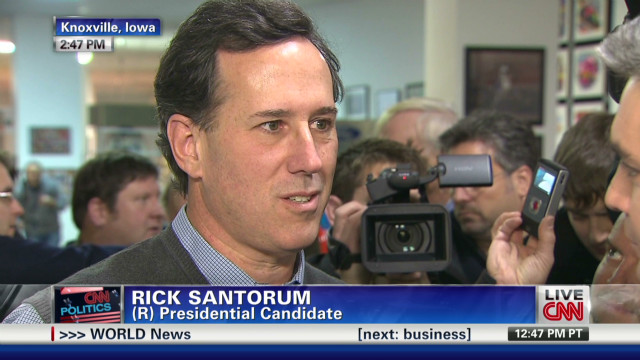 Santorum makes case in Iowa