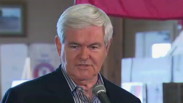Gingrich says negative campaigning has cost him the Iowa caucuses.