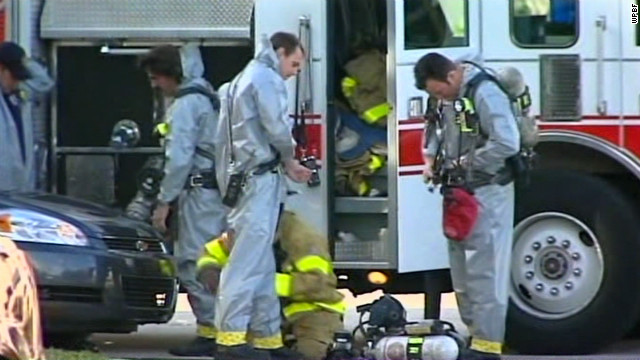 A Florida prosecutors' office is checked after white powder is found.