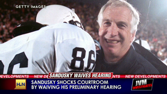 Sandusky shocks court, waives hearing