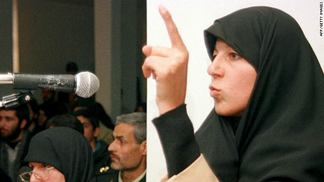 Iran's Faezeh Hashemi was arrested last year for taking part in anti-government protests.