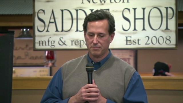 Santorum breaks down in Iowa