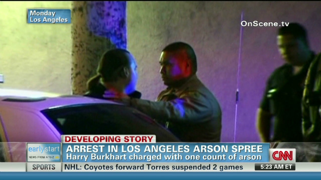 Arrest in Los Angeles arson spree