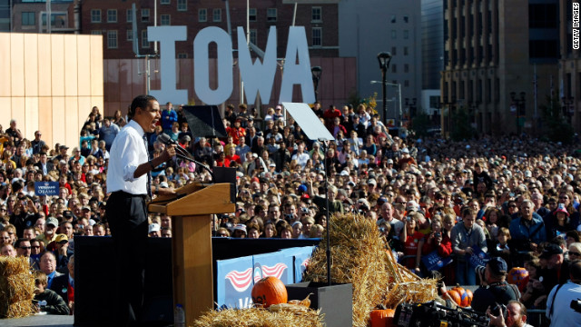 Barack Obama's surprise victory in the Iowa caucuses four years ago started him toward his Democratic presidential nomination in 2008.